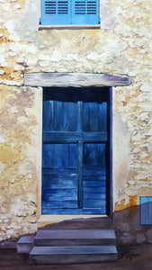 BLUE DOOR - ORIGINAL PAINTING
