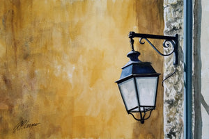FRENCH STREETLAMP - ORIGINAL PAINTING