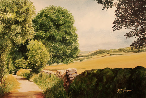 THWAITE LANE AUSTWICK - ORIGINAL PAINTING