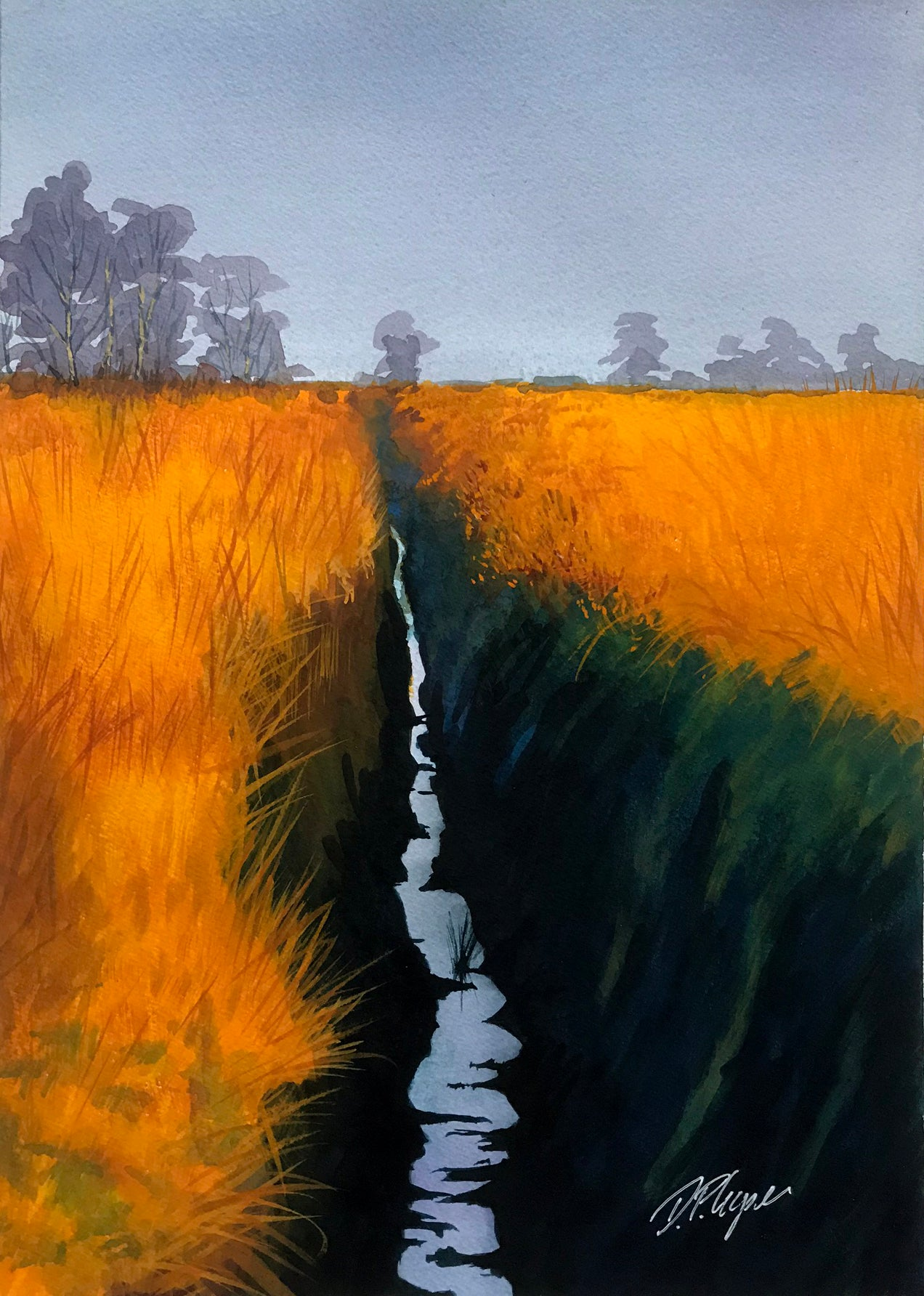 GOLDEN FIELDS - ORIGINAL PAINTING