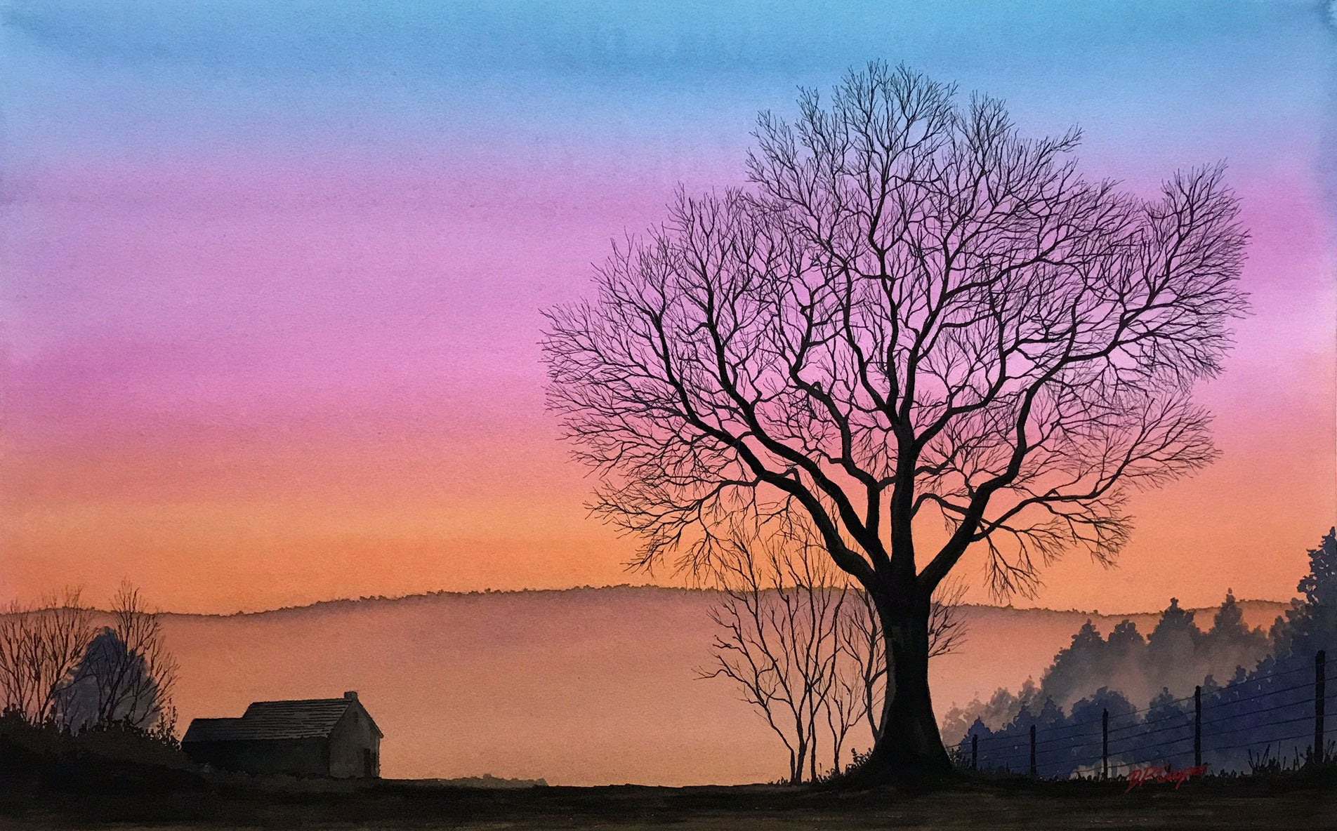 WINTER TREE III - ORIGINAL PAINTING