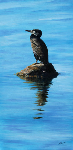 SUN WORSHIPPING CORMORANT - ORIGINAL PAINTING