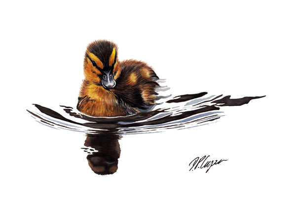 DUCKLING II - A5 Art card