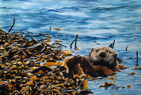 LYING IN THE KELP - ORIGINAL PAINTING