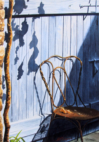 CHAIR IN THE SUN - ORIGINAL PAINTING