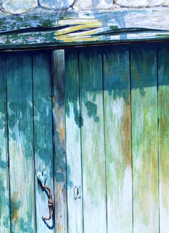 GREEN DOOR - ORIGINAL PAINTING