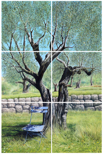 UNDER THE OLIVE TREE - ORIGINAL PAINTING
