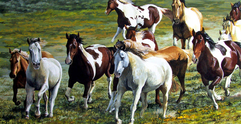 MUSTANGS - ORIGINAL PAINTING