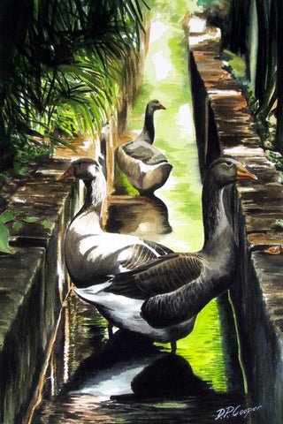 THREE GEESE - ORIGINAL PAINTING