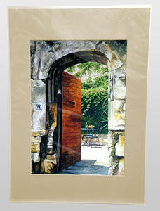 CHATEAUNEUF_COURTYARD - A3 Giclee art print