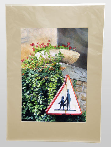 CHILDREN_CROSSING - A4 Giclee art print