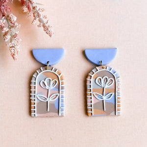 Pastel Floral Arch Earrings