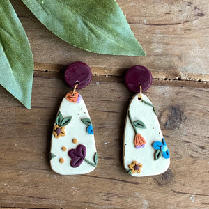 Neutral Rainbow Floral Slab (Teardrop)