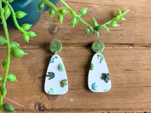 Succulent Slab Earrings (teardrop)