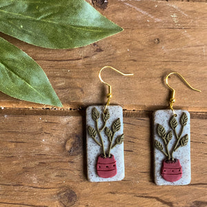 Plant Baby Earrings (Rectangle)