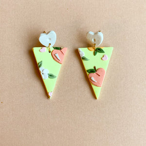 Peachy Love Earrings (triangle)