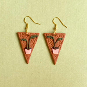 Plant Baby Earrings (triangle)