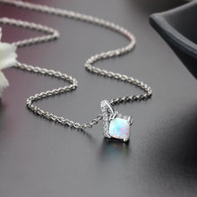 Load image into Gallery viewer, White Fire Opal Necklace