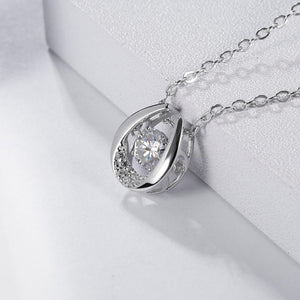 Moissanite Diamond Pendant Necklace