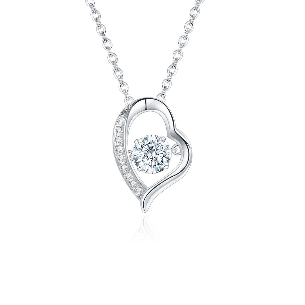 Moissanite Diamond Heart Pendant Necklace