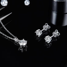 Load image into Gallery viewer, Moissanite Diamond Pendant Necklace Earrings Set