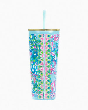 Lilly Pulitzer Tumbler with Straw-24oz