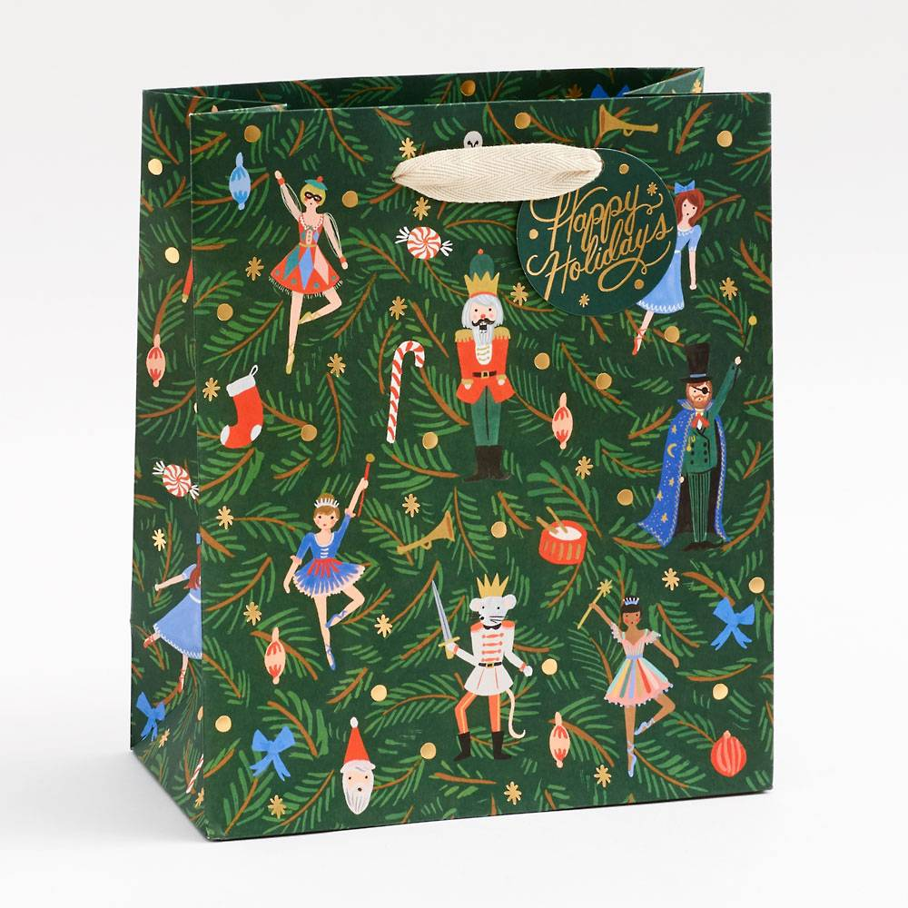 Rifle Paper Nutcracker Small Gift Bag