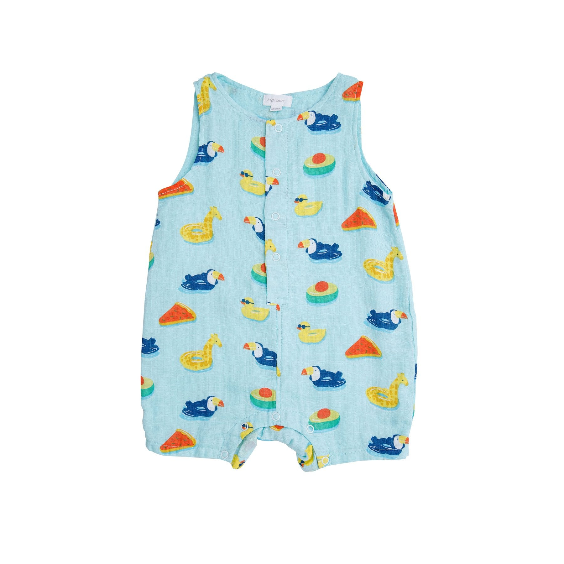 Floaties Shorty Romper Blue