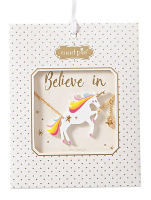 Mudpie Unicorn Acrylic Necklace