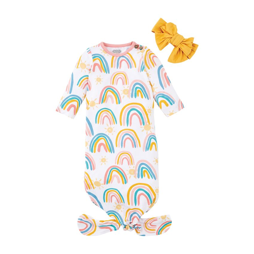 Mudpie Rainbow Gown and Headband
