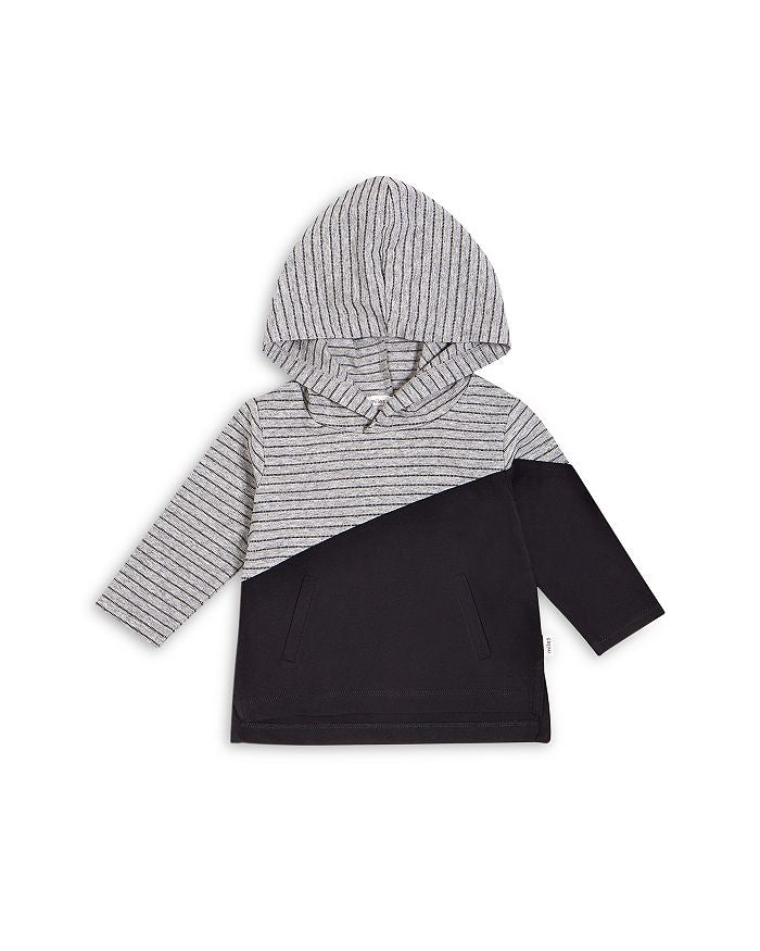Miles Hooded LS T-shirt Knit-Heather Gray