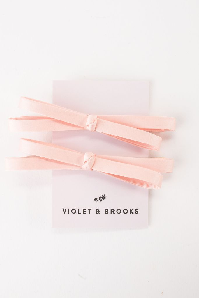 Violet and Brooks Mia Satin Bow Clips