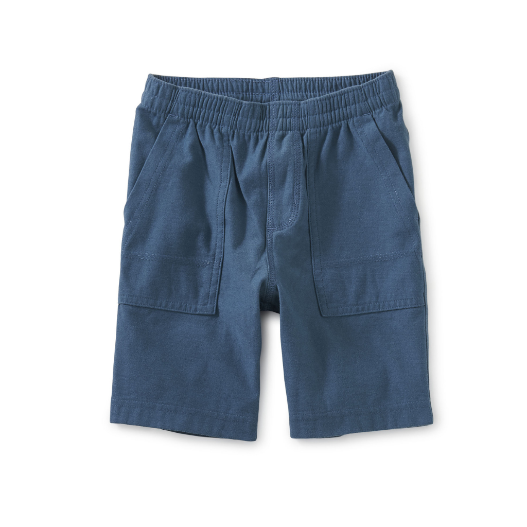 Tea Playwear Blue Whale Baby Shorts