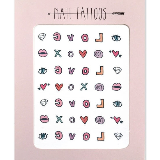 Nail Tattoos Valentines Day