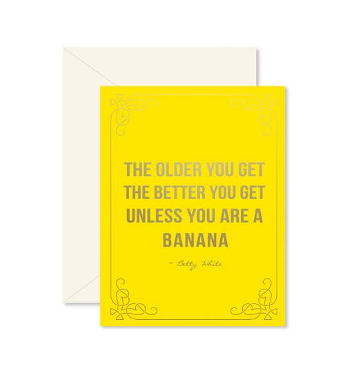 Ginger P Birthday Banana Card