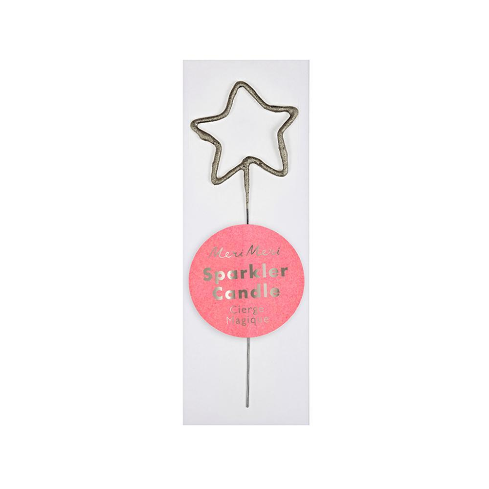 Gold Star Sparkler Candle