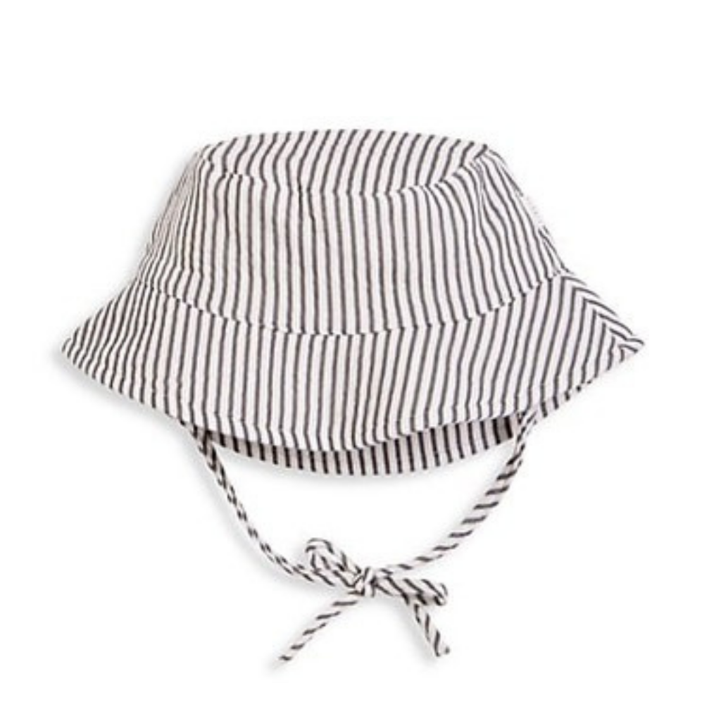 Petit Lem Baby Bucket Hat Grey Stripe
