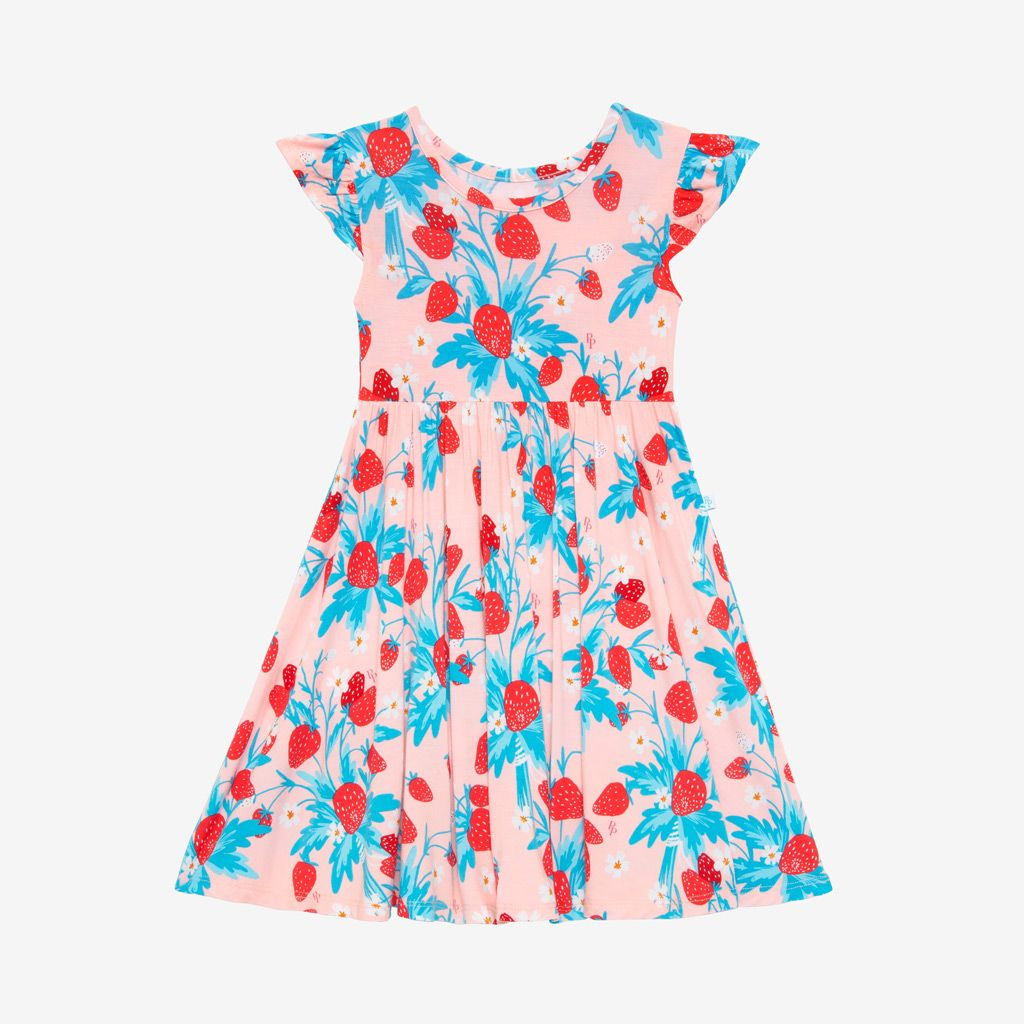 Posh Peanut Strawberry Twirl Dress
