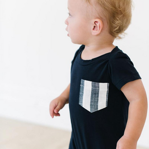 Thimble Shortall In Midnight Stripe