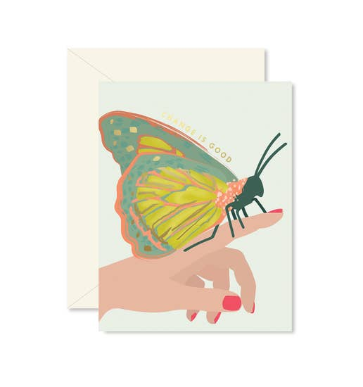 Ginger P Butterfly Change Card