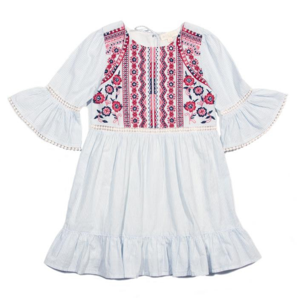 Egg Embroidered Selma Dress