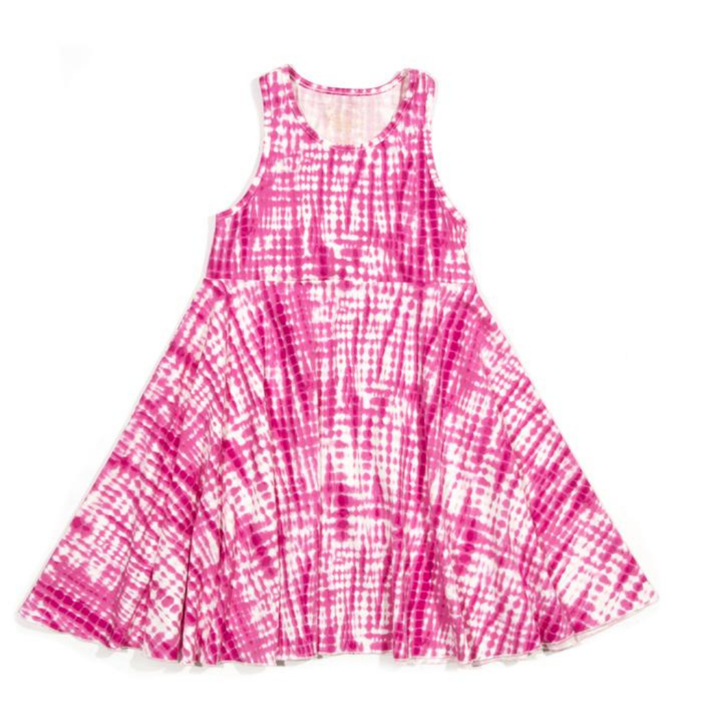 Egg Tie Dye Pink Iona Twirl Dress