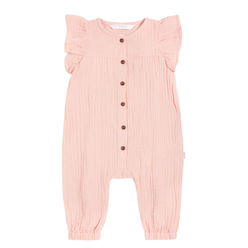 Petit Lem Sleeveless Woven Playsuit Lt. Pink