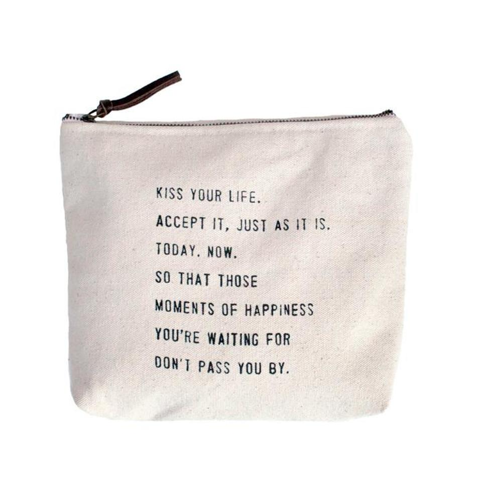 Sugarboo Canvas Pouch-Kiss Your Life