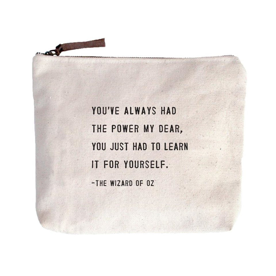 SugarBoo You've Always Had the Power Canvas Pouch