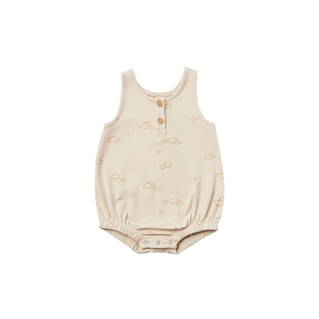 Quincy Mae Sleeveless Bubble Onesie Ivory