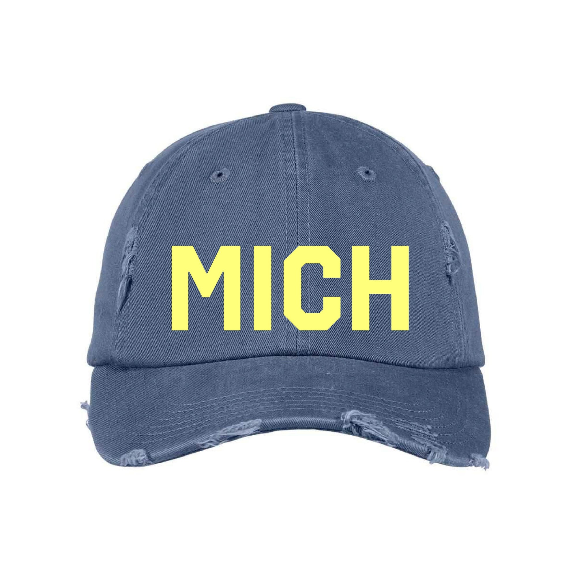 Midwest Supply Navy and Gold MICH Hat