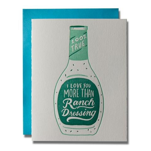 Ladyfingers Ranch Dressing Card