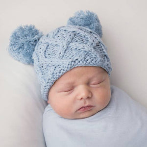 Newborn Double Pom Pom Hat