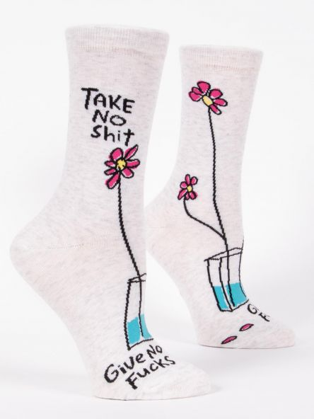 Blue Q Take No Shit Women's Crew Sock